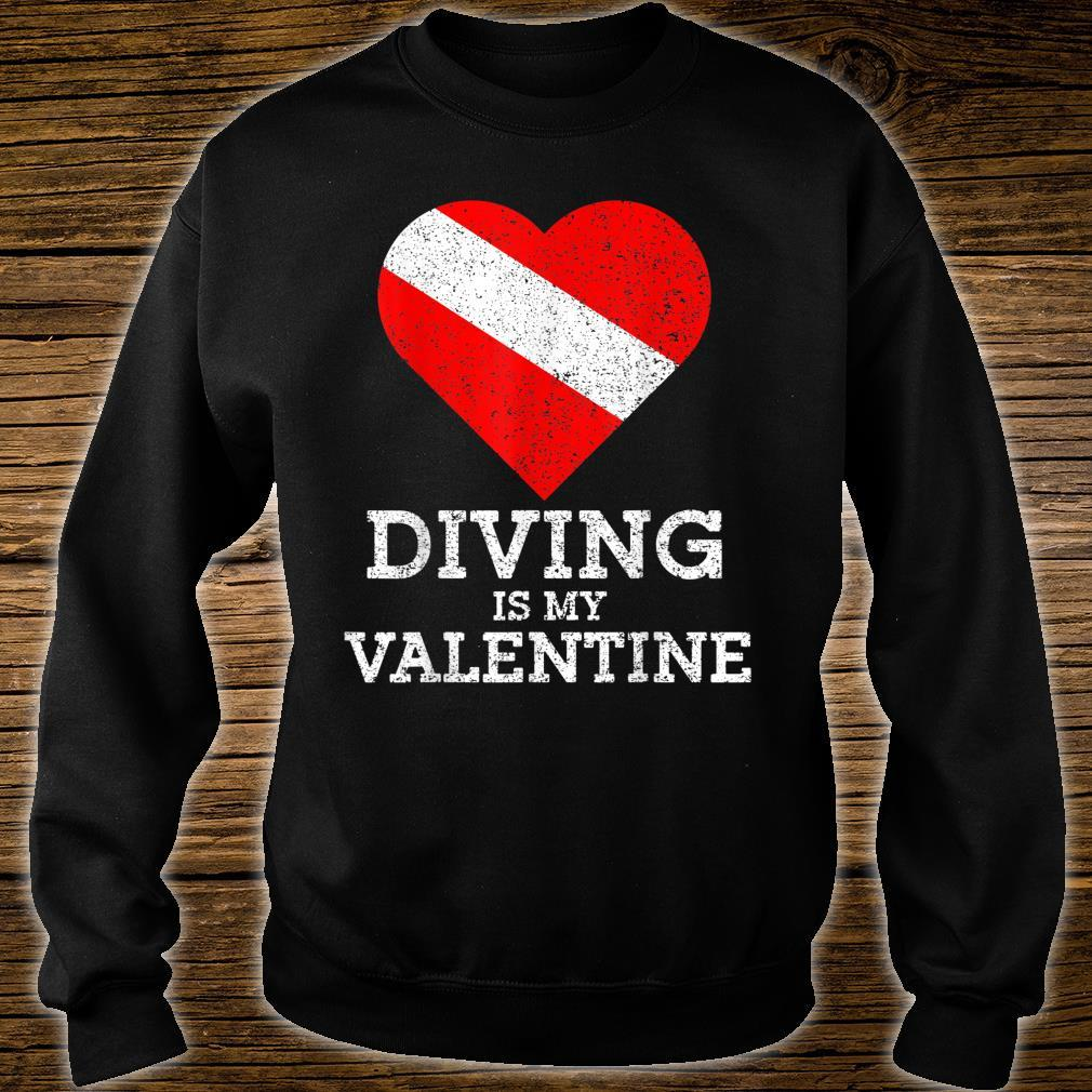 Diving Is My Valentine Heart Scuba Diver Valentines Day Shirt sweater