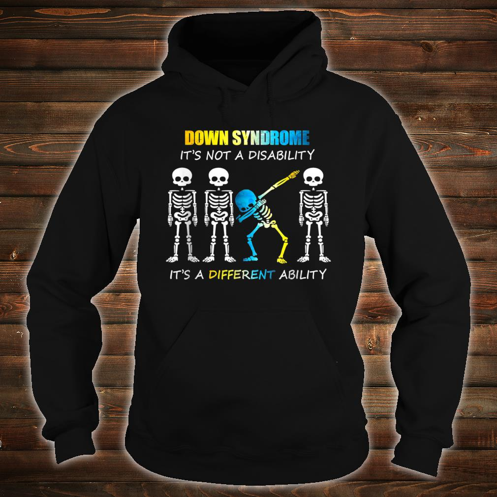 Down Syndrome IT'S NOT A DISABILITY Dabbing Halloween Shirt hoodie