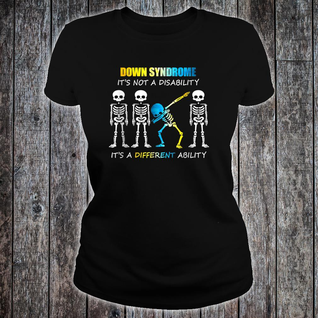 Down Syndrome IT'S NOT A DISABILITY Dabbing Halloween Shirt ladies tee