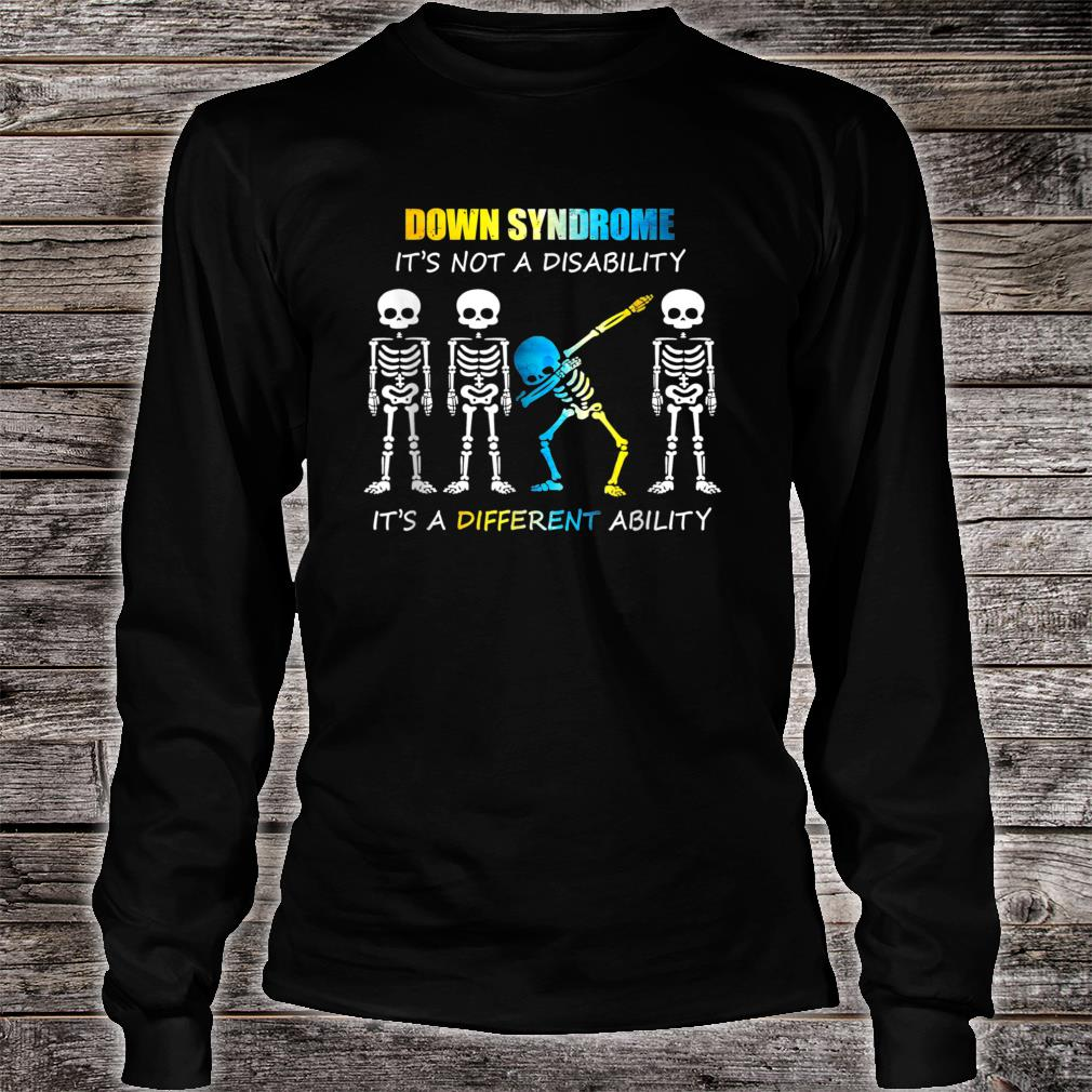 Down Syndrome IT'S NOT A DISABILITY Dabbing Halloween Shirt long sleeved