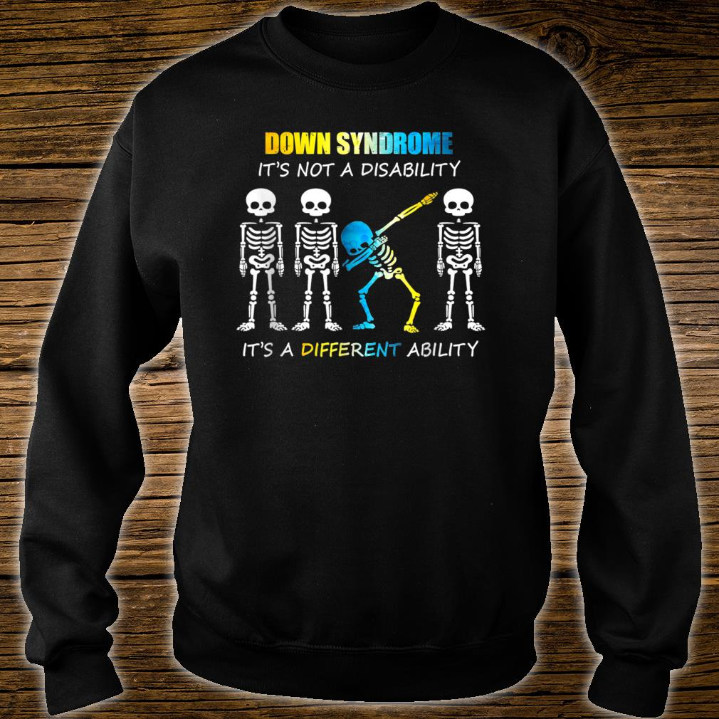 Down Syndrome IT'S NOT A DISABILITY Dabbing Halloween Shirt sweater