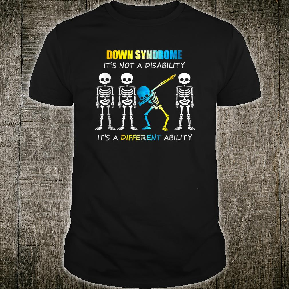 Down Syndrome IT'S NOT A DISABILITY Dabbing Halloween Shirt