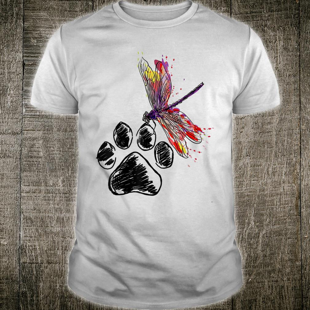 Dragonfly Dog Paw Color shirt