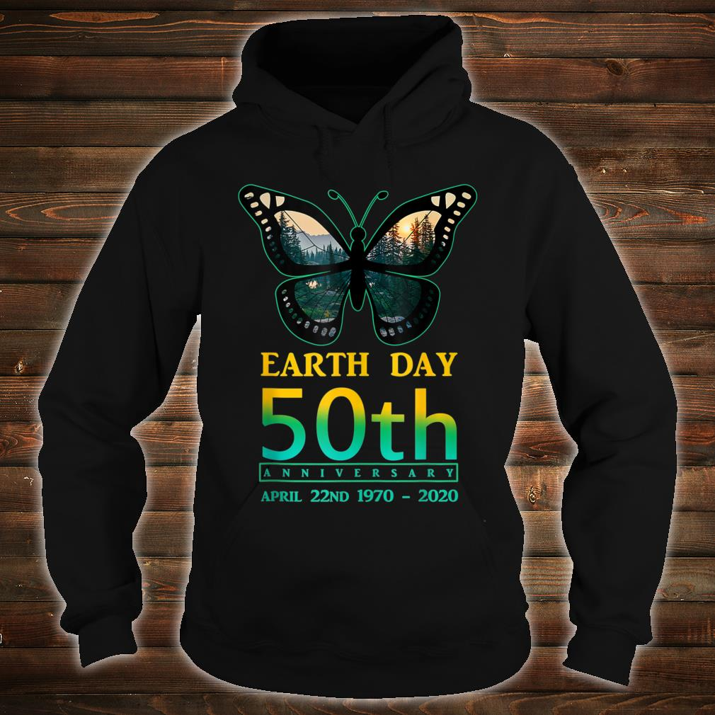 Earth Day 50th Anniversary Butterfly and Ladybug Silhouette Shirt hoodie