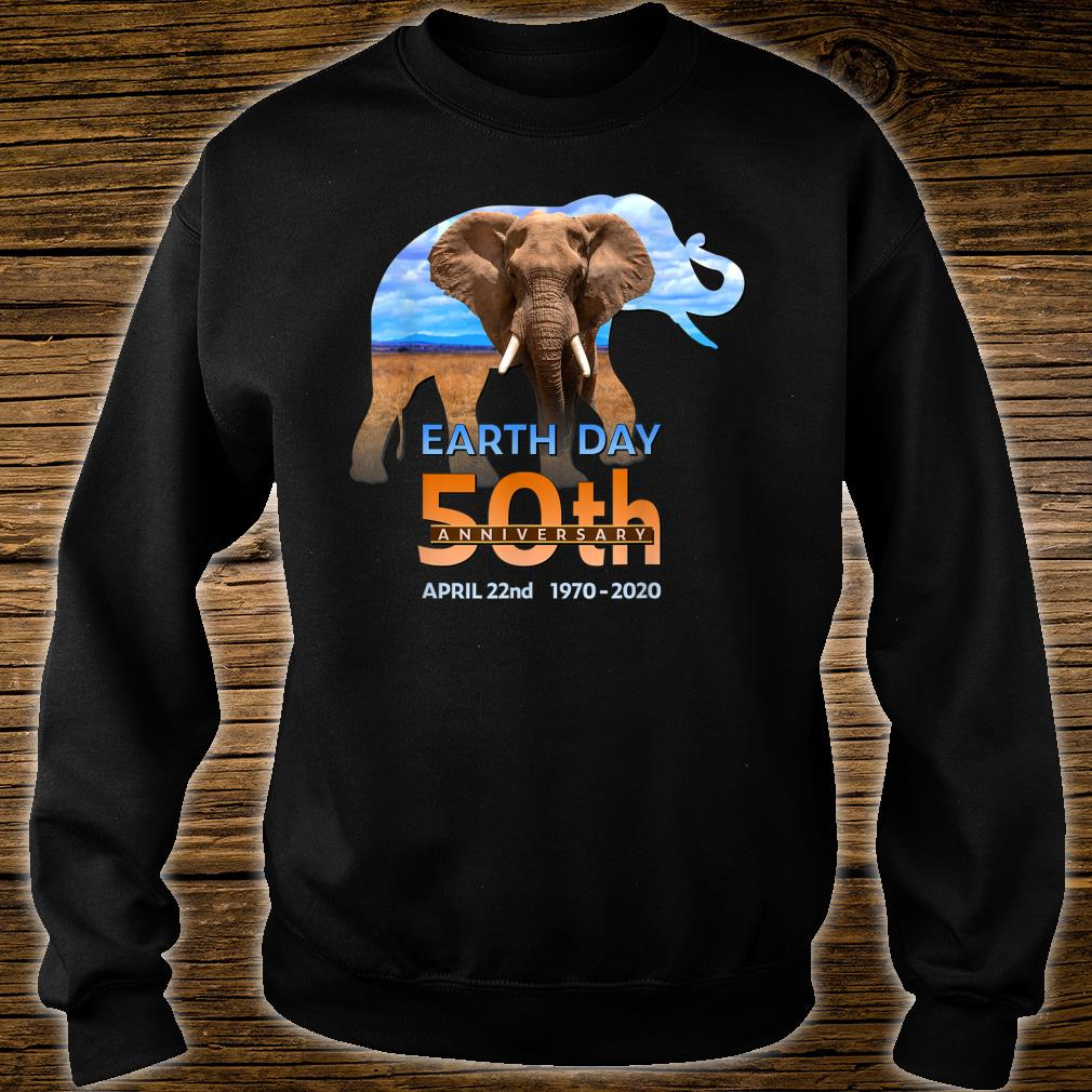 Earth Day 50th Anniversary Elephant 2 Silhouette Shirt sweater