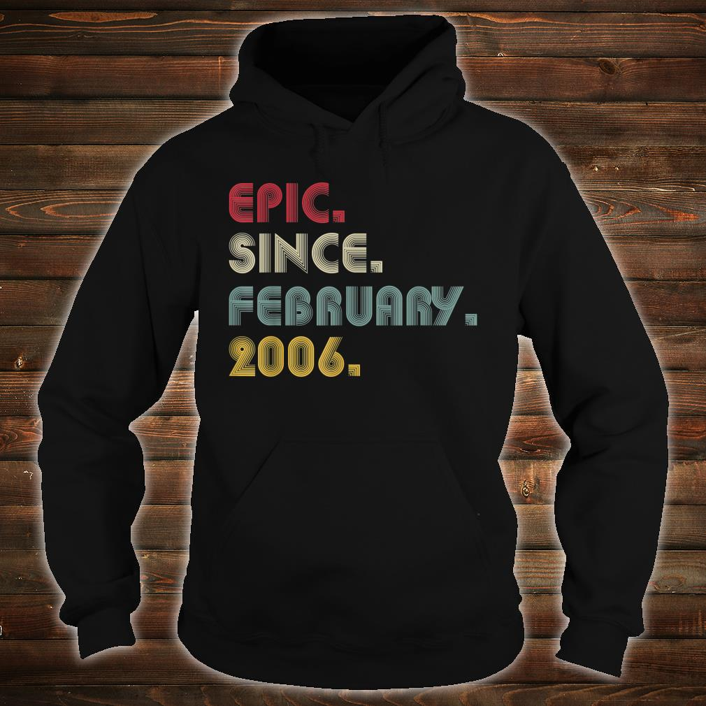 Epic Since February 2006 Retro 14 Years Old Shirt hoodie