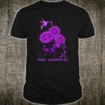 Fibro Awareness Hummingbird Sunflower Shirt