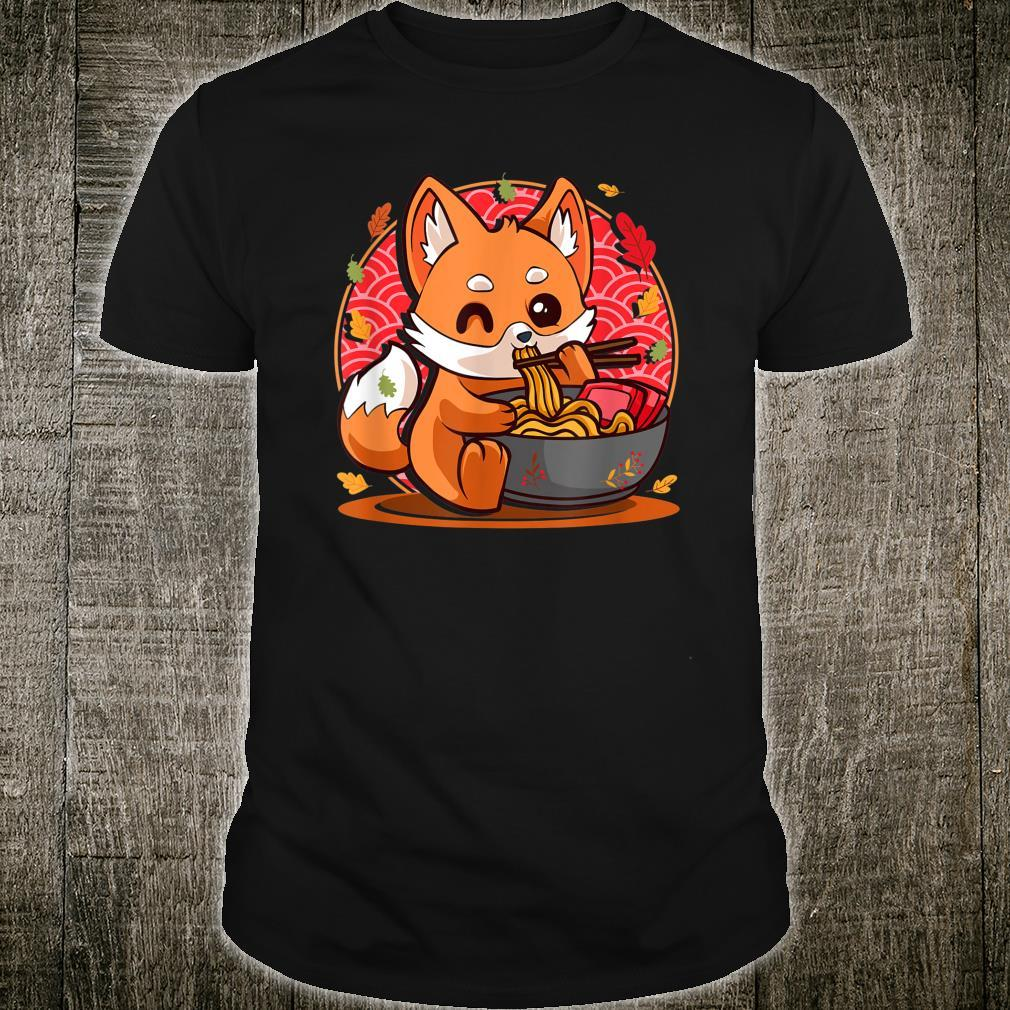 Fox Eating Pho Noodles Japanese Anime Kawaii Ramen Otaku Shirt
