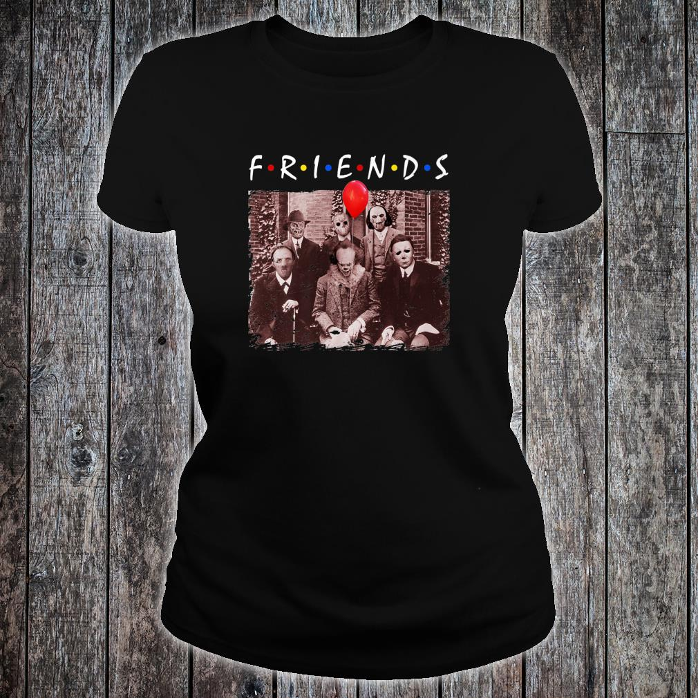 Friends Halloween Horror Team Scary Movies Costume Shirt ladies tee