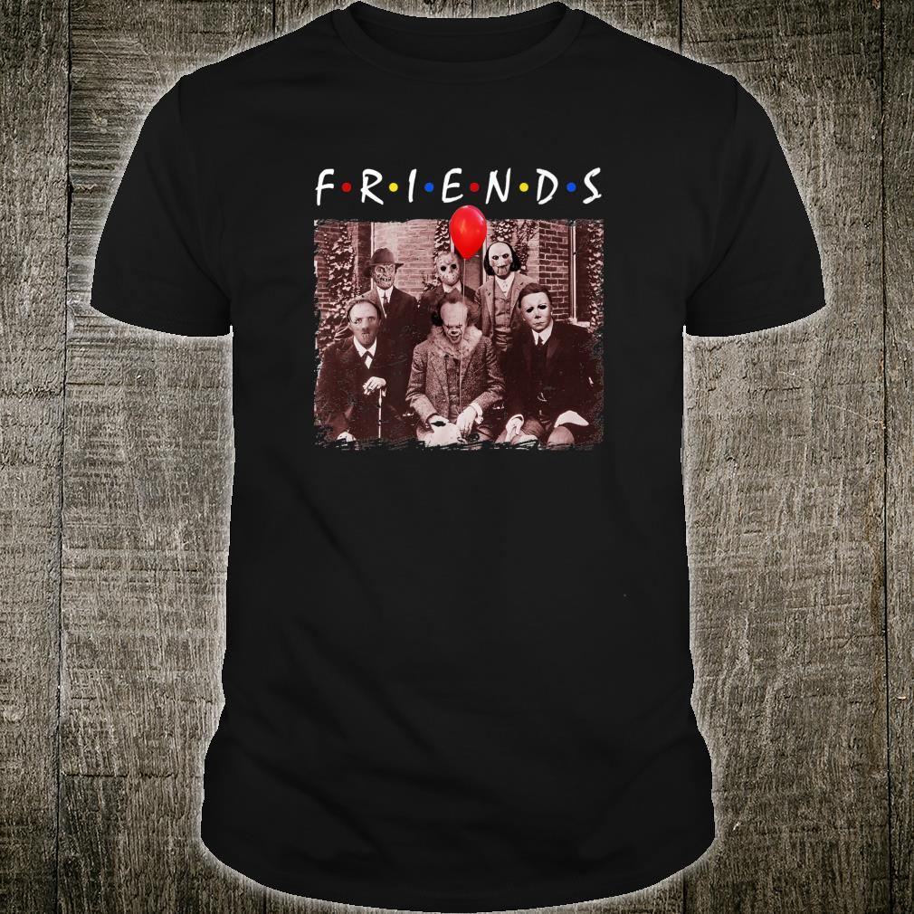Friends Halloween Horror Team Scary Movies Costume Shirt