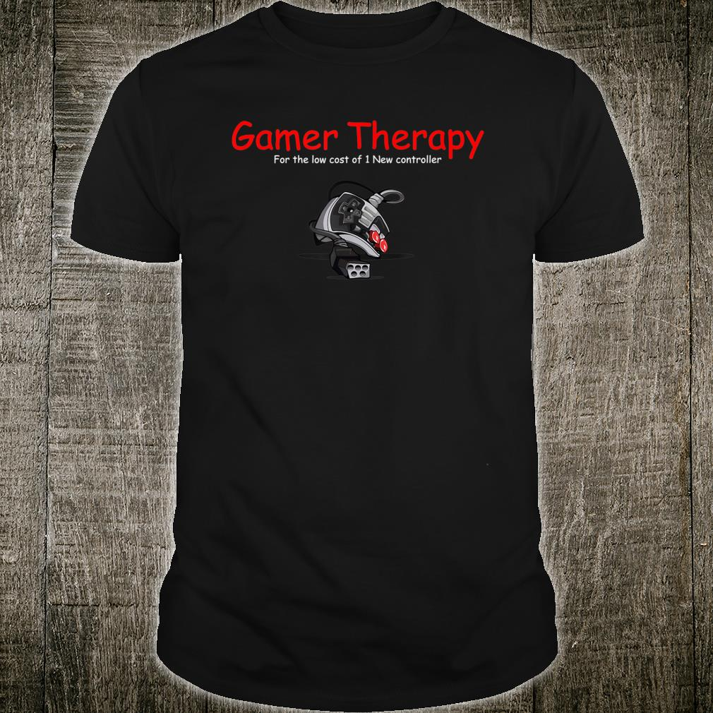 Gamer therapy with broken controller for the 80s Gamer Shirt