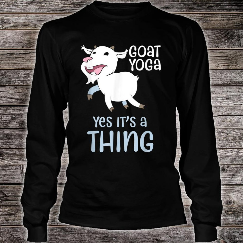 Goat yoga, Healing with Animals a unique yoga experience Shirt long sleeved