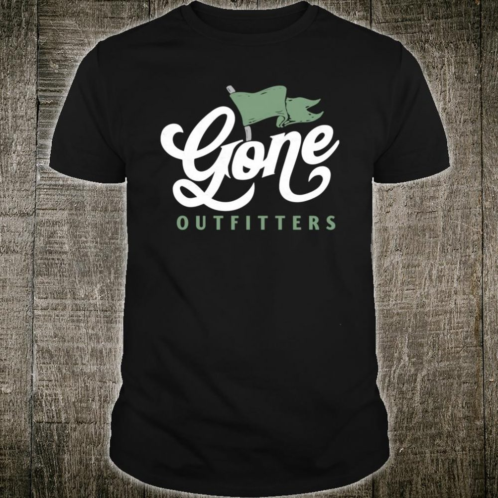 Gone Outfitters Flag Design Retro Graphic Shirt