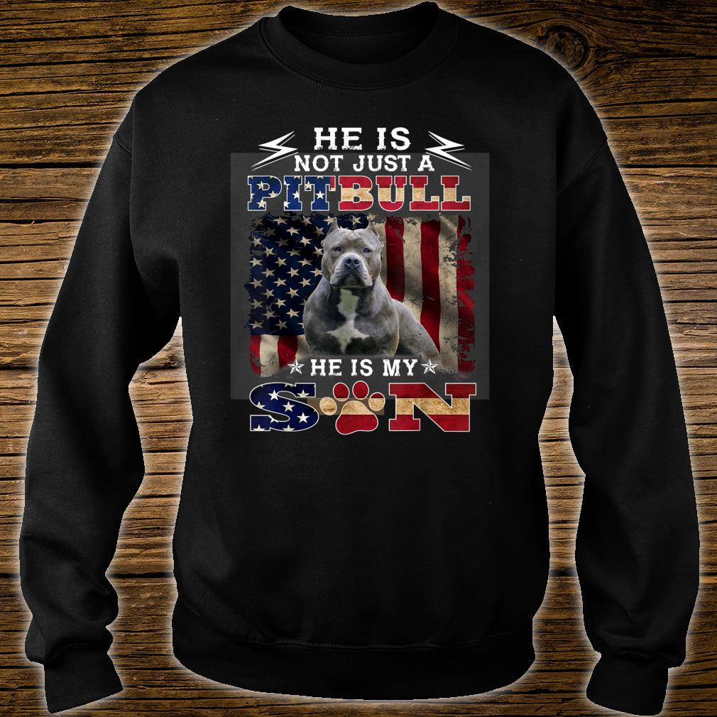 He is not just a pitbull he is my son Shirt sweater