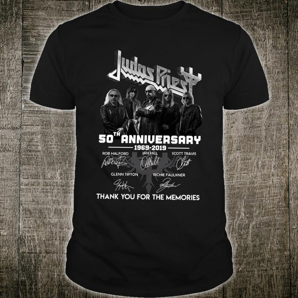 Judas Priest 50th anniversary thank you for the memories shirt