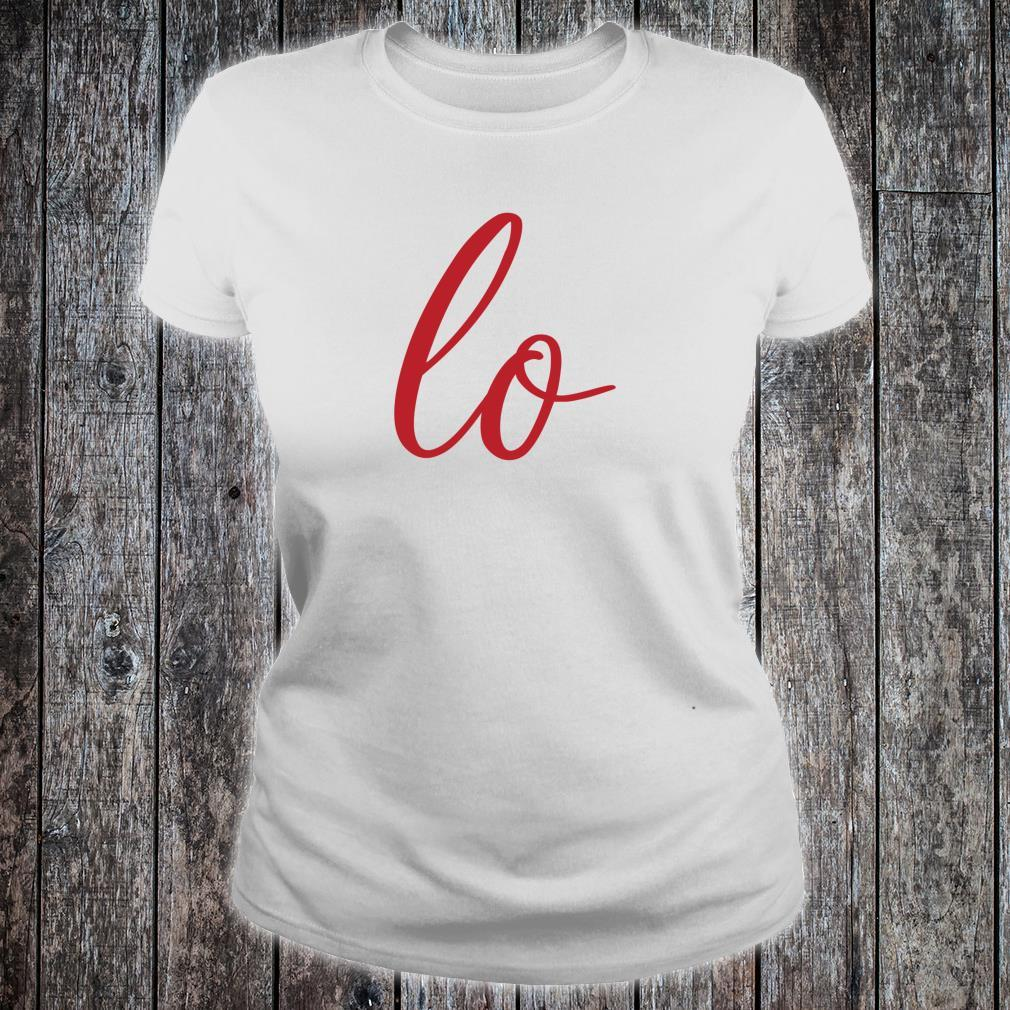 Matching Couples Sets Letter Print Love Shirt ladies tee