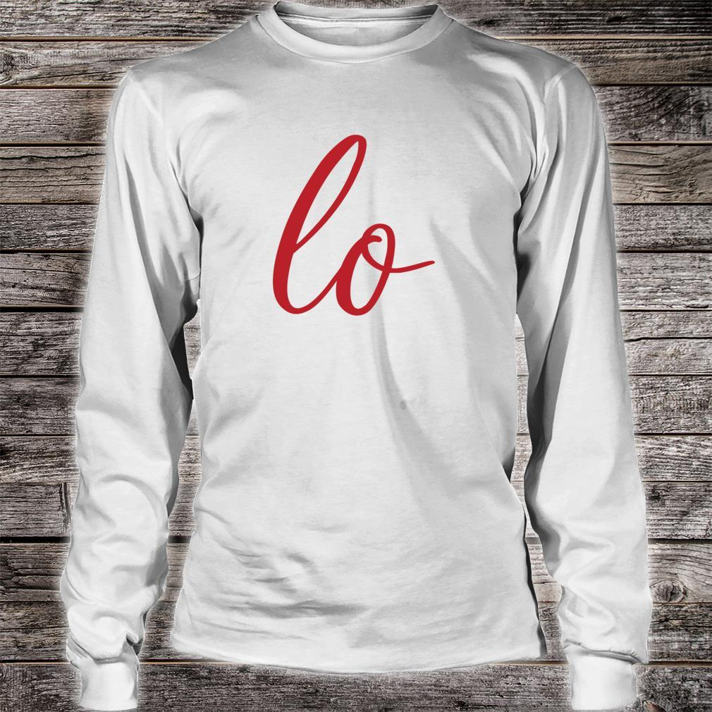 Matching Couples Sets Letter Print Love Shirt long sleeved