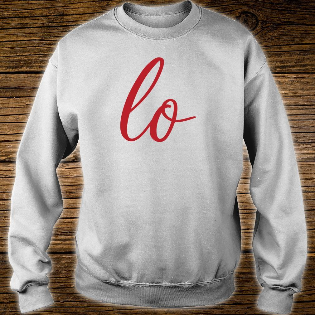 Matching Couples Sets Letter Print Love Shirt sweater