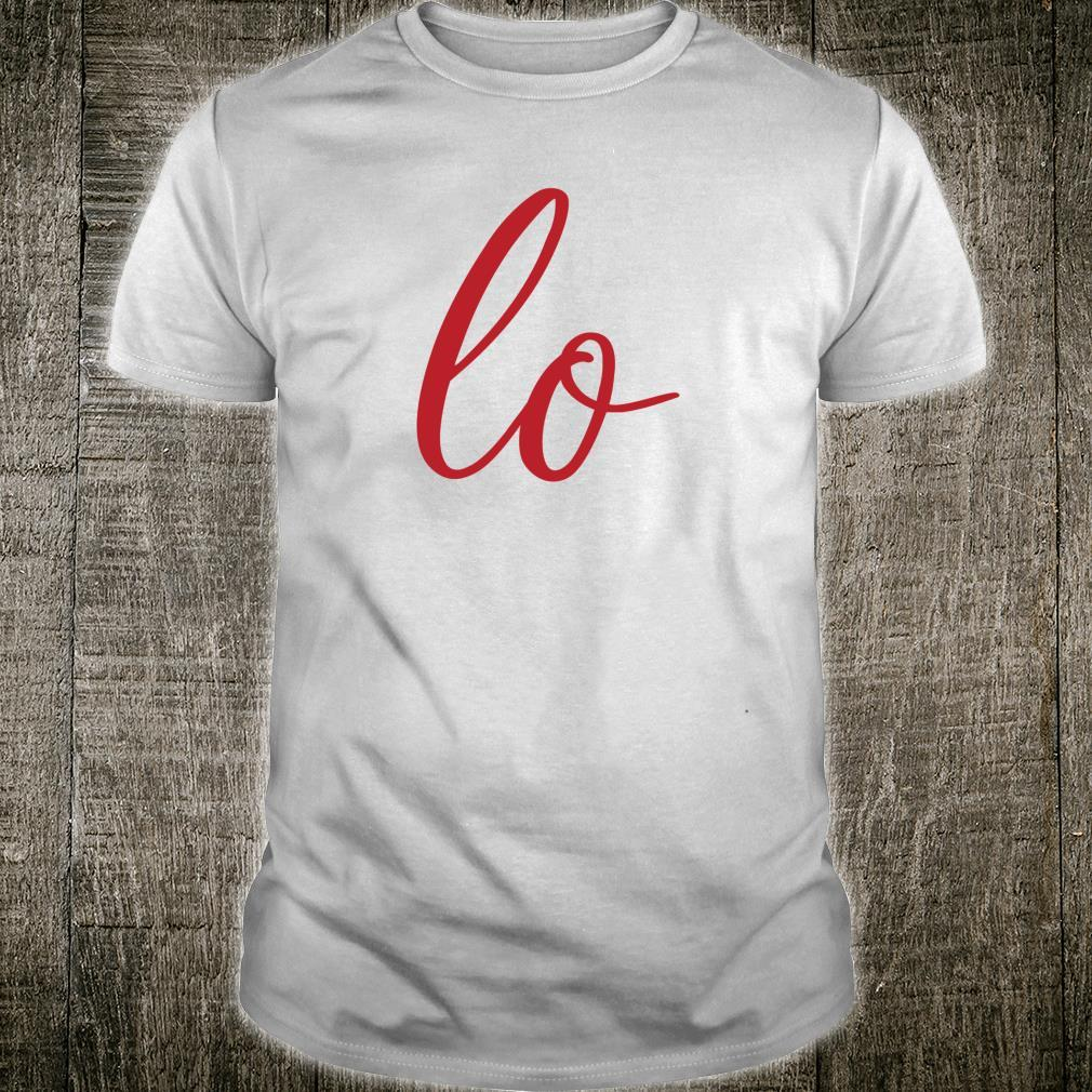 Matching Couples Sets Letter Print Love Shirt