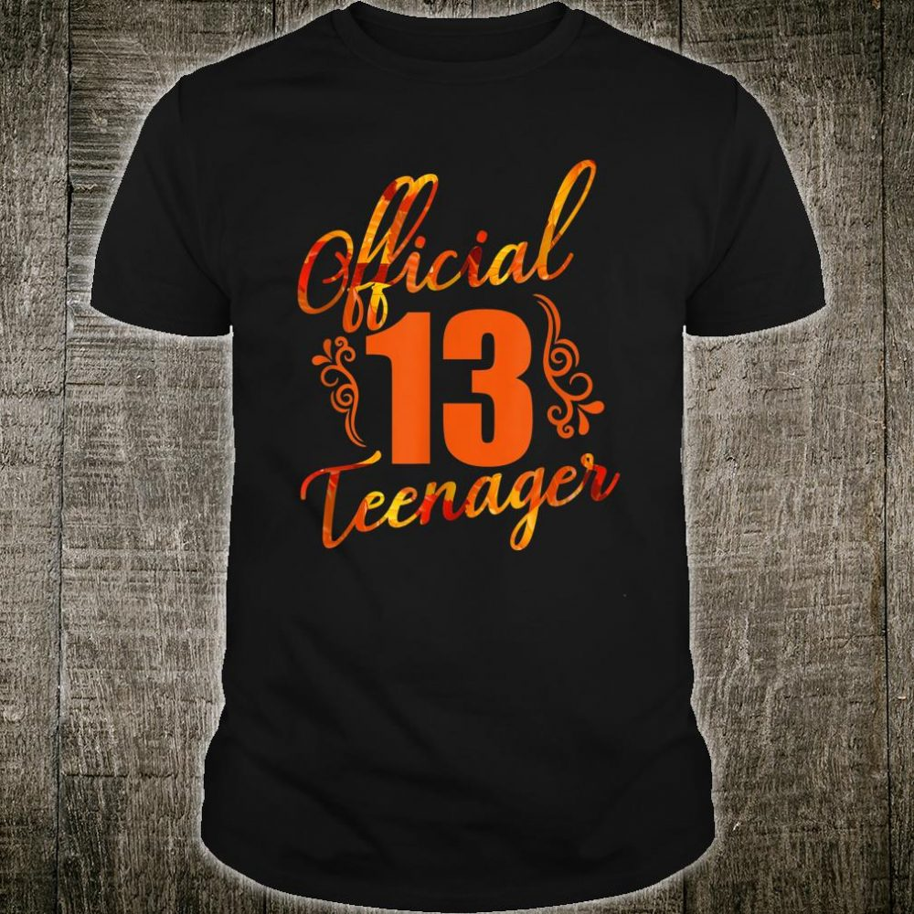Official 13nager Birthday Shirt