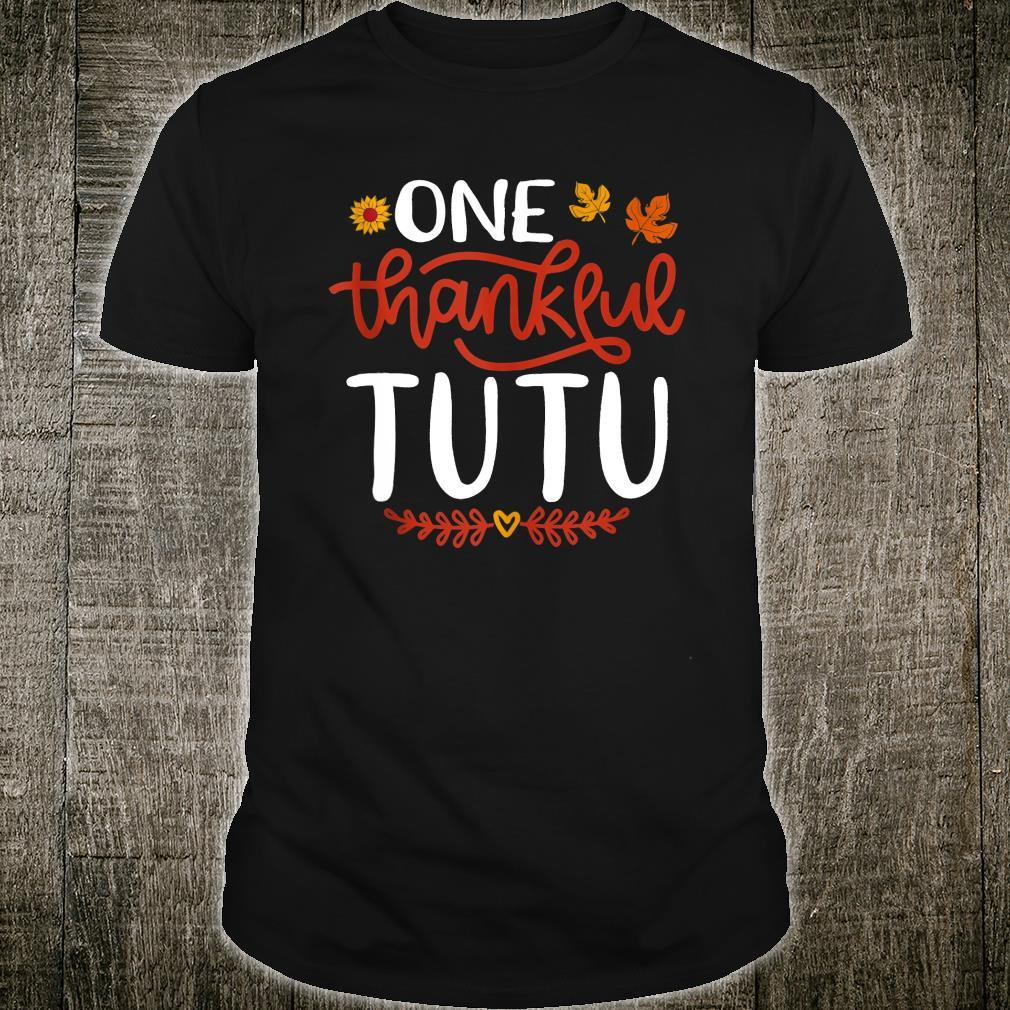 One Thankful Tutu Matching Thanksgiving Day Family Shirt