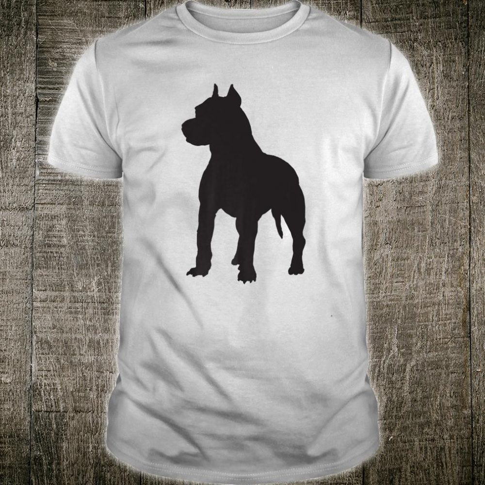Pitbull Terrier Dog Silhouette Shirt