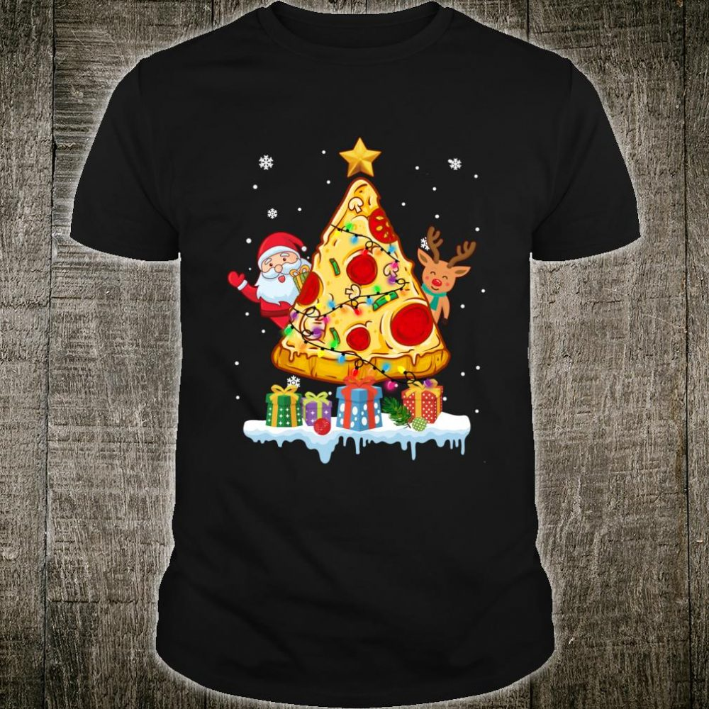 Pizza Christmas Tree Shirt