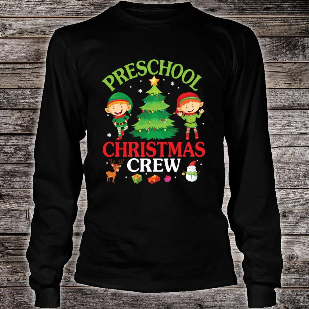 Preschool Christmas Crew Shirt long sleeved