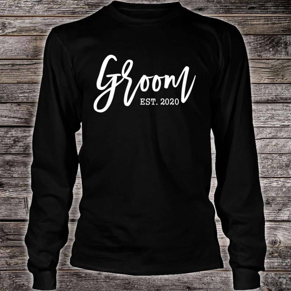 Present for Future Husband Soon to be Mr Groom Est 2020 Shirt long sleeved