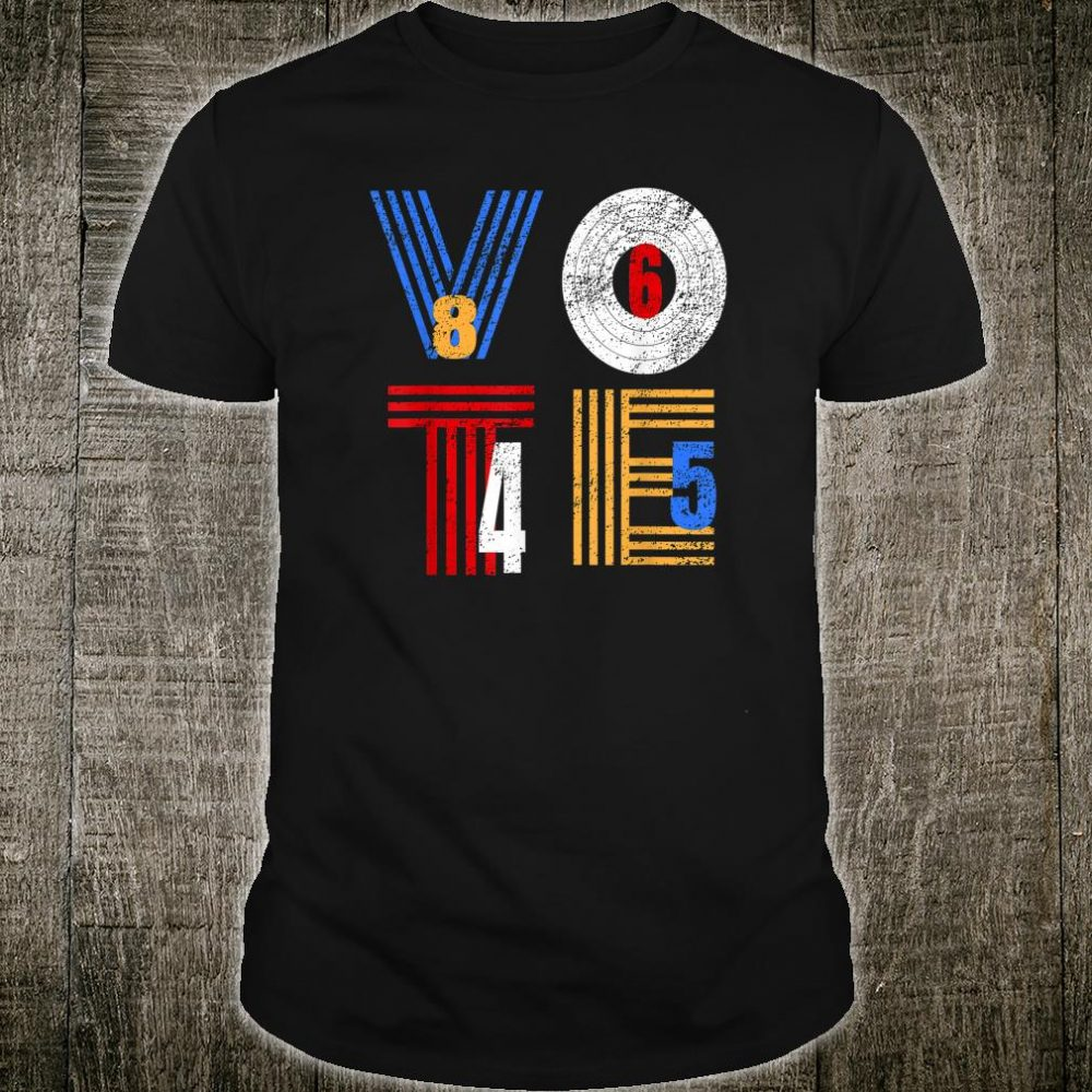 Retro Anti Trump Vote 8645 Democrat Voter Shirt