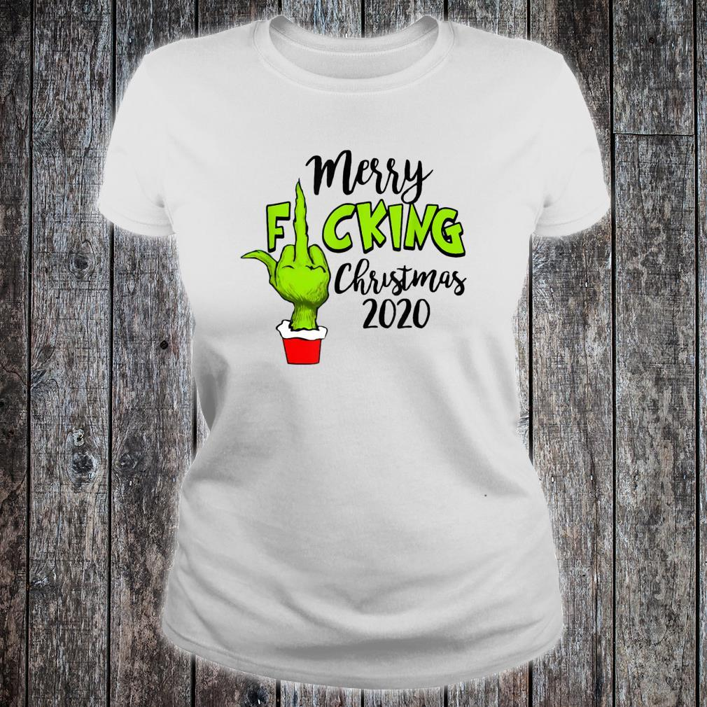Santa G.rinch Merry F-cking christmas Shirt ladies tee