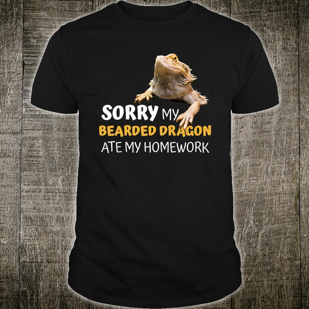 Sorry My Bearded Dragon Ate My Homework Teacher Student Shirt