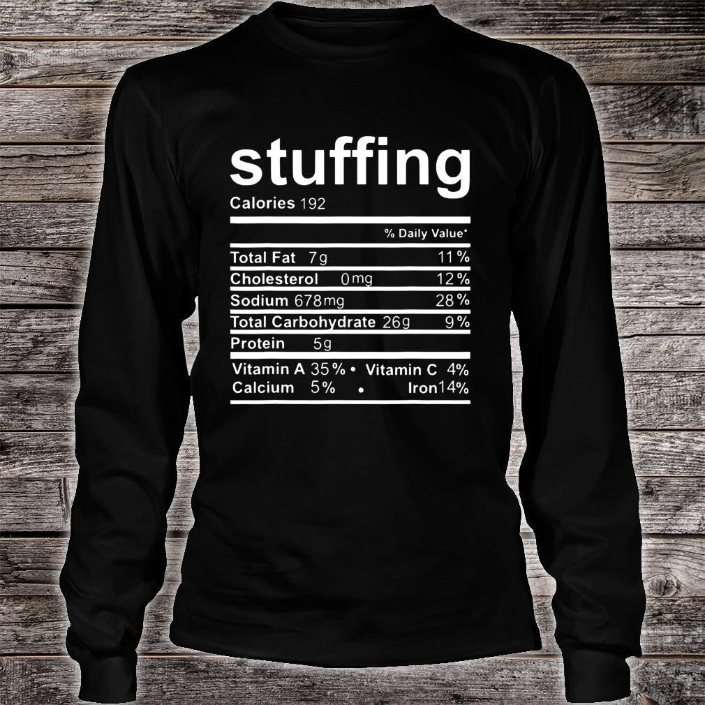 Stuffing Nutritional Facts Shirt long sleeved