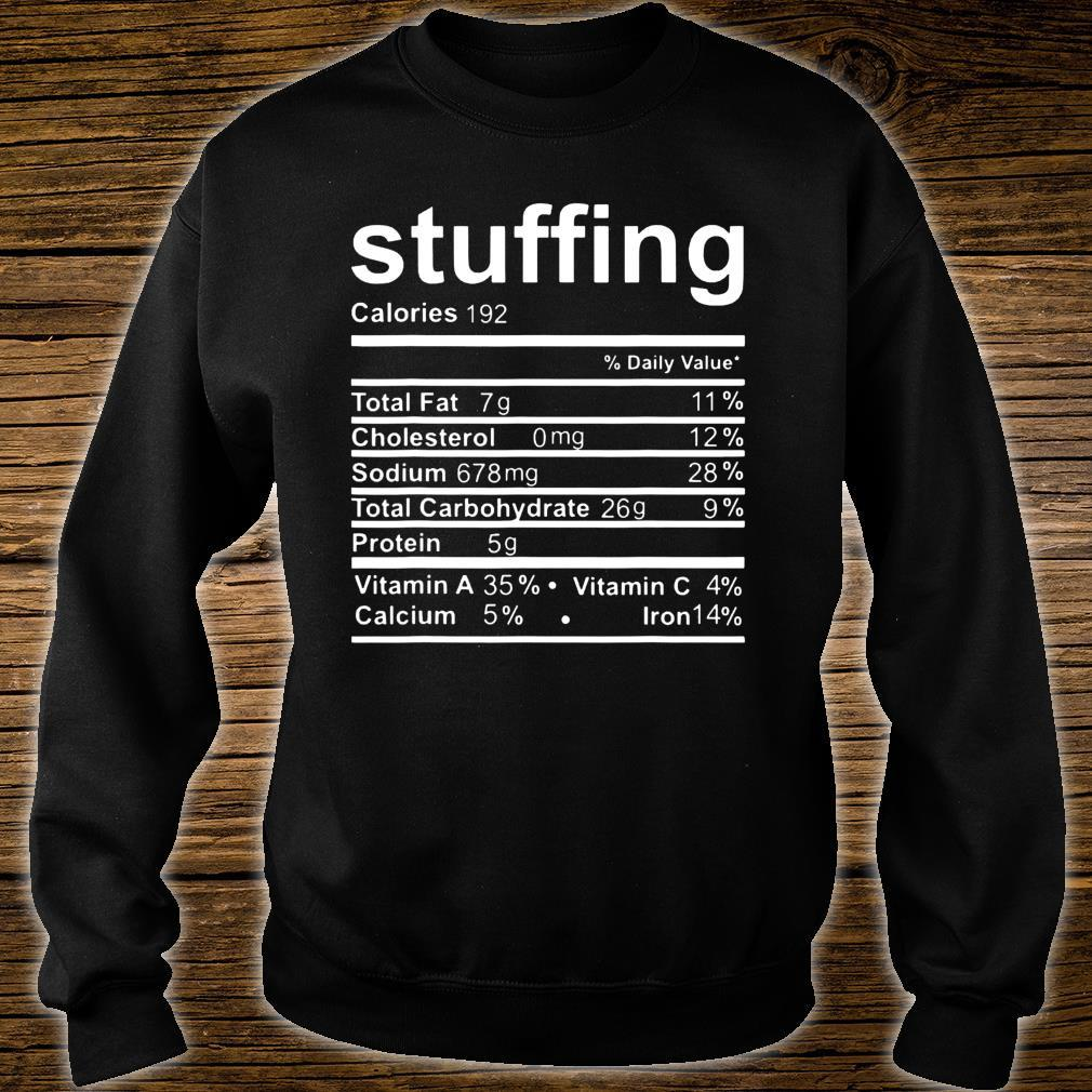 Stuffing Nutritional Facts Shirt sweater