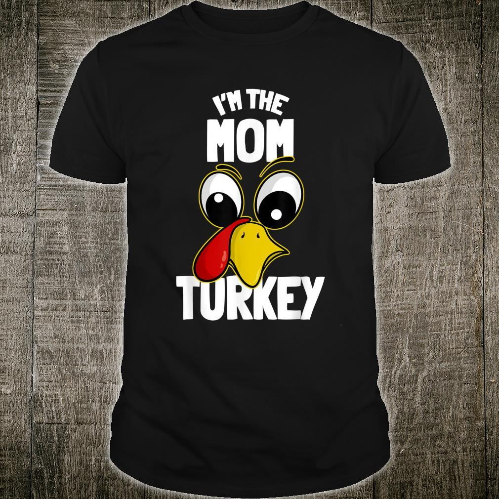 The Mom Turkey Family Group Matching Thanksgiving Shirt