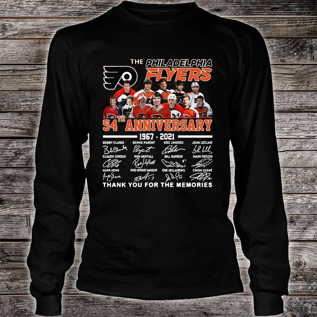 The Philadelphia Flyers 54th Anniversary 1967-2021 Thank You For The Memories Shirt long sleeved