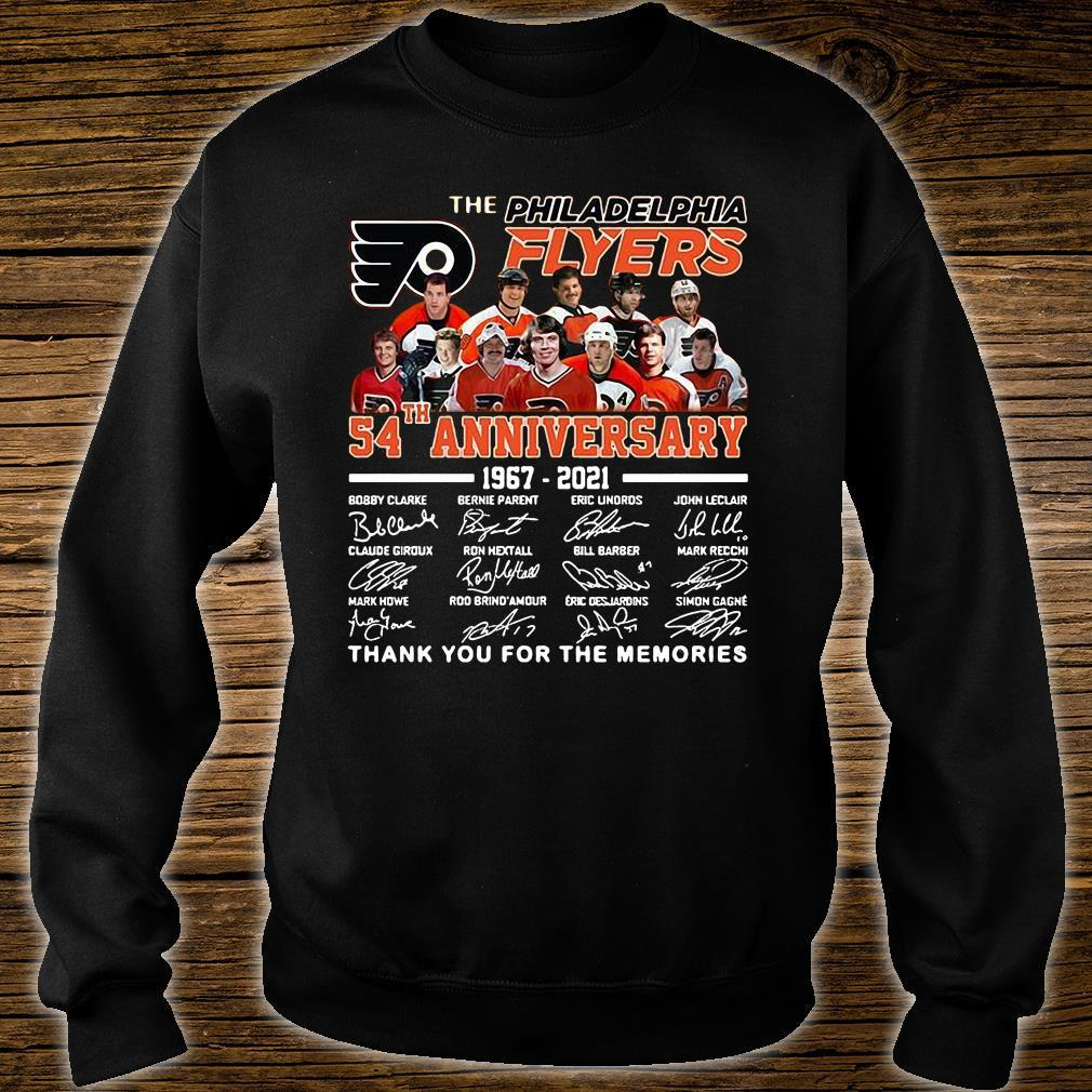 The Philadelphia Flyers 54th Anniversary 1967-2021 Thank You For The Memories Shirt sweater