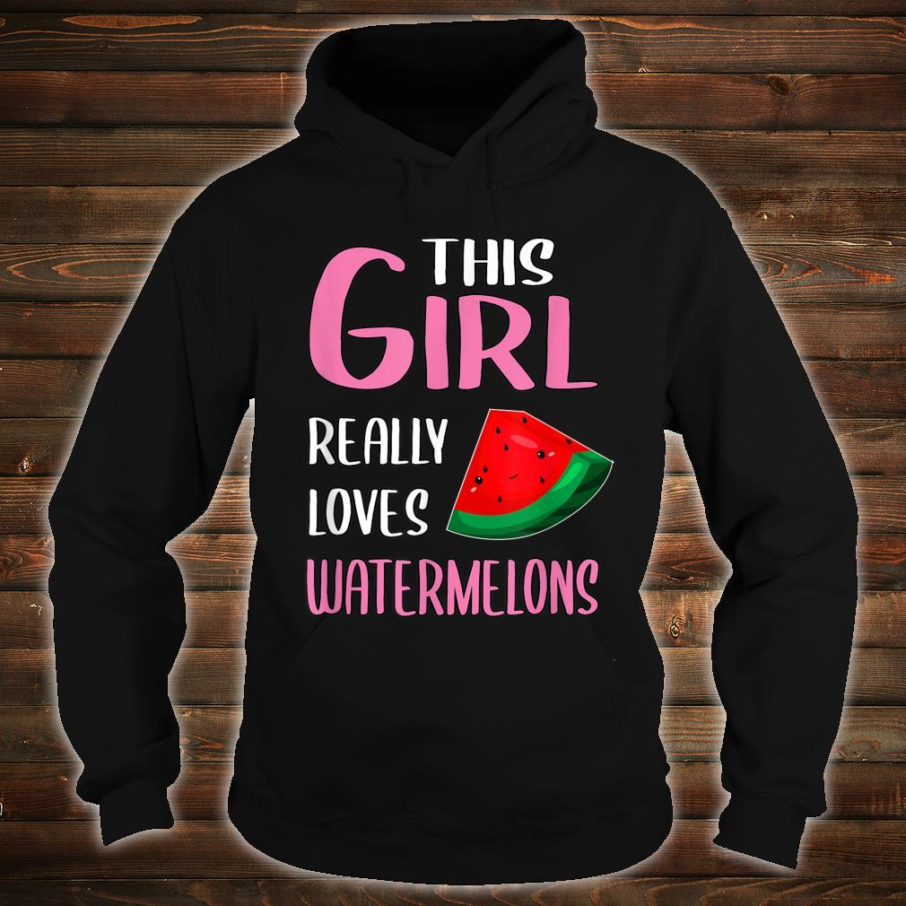 This Girl Really Loves Watermelons Shirt hoodie