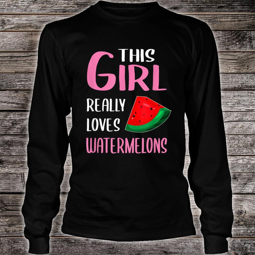 This Girl Really Loves Watermelons Shirt long sleeved