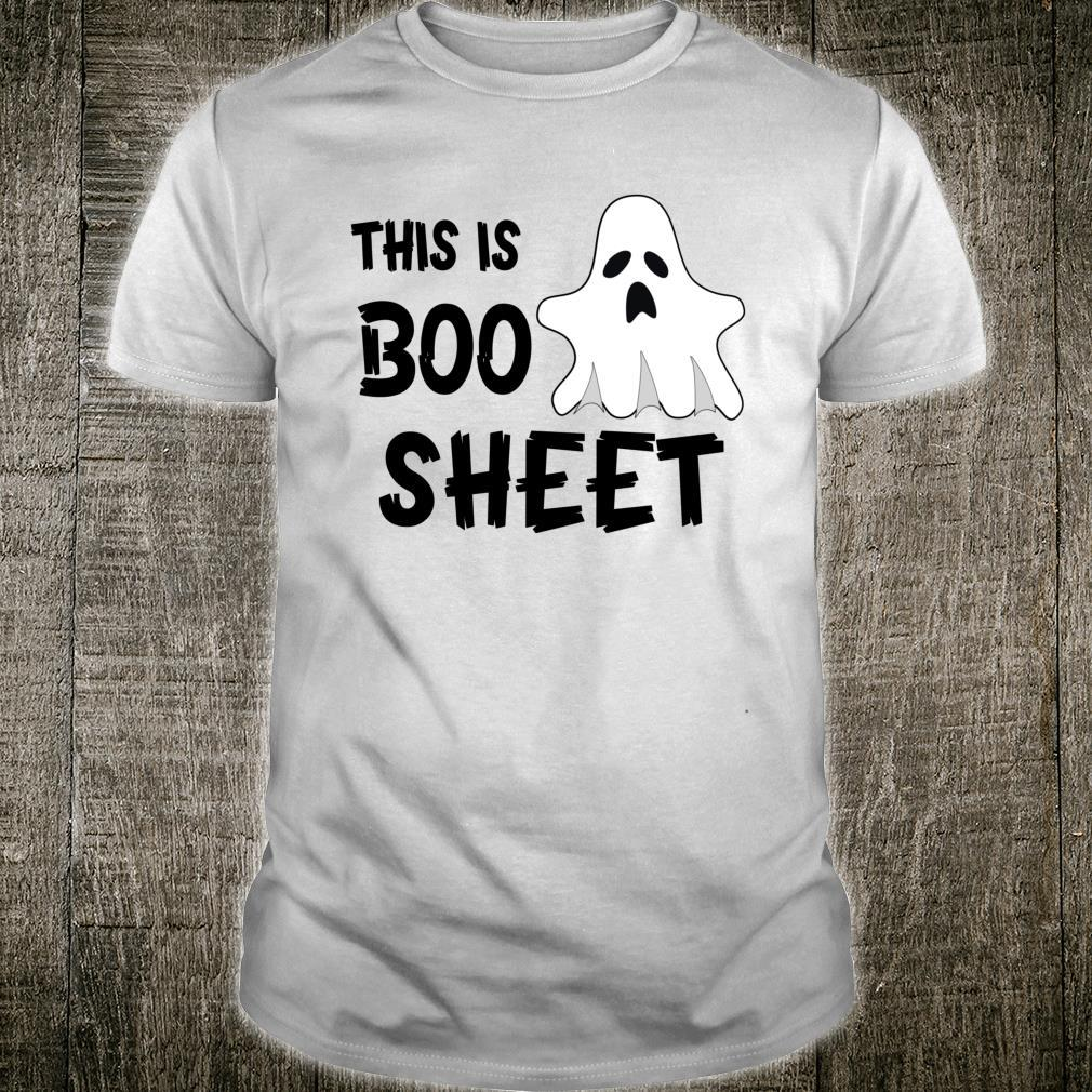 This is Boo Sheet Horror Halloween Ghost Present Shirt