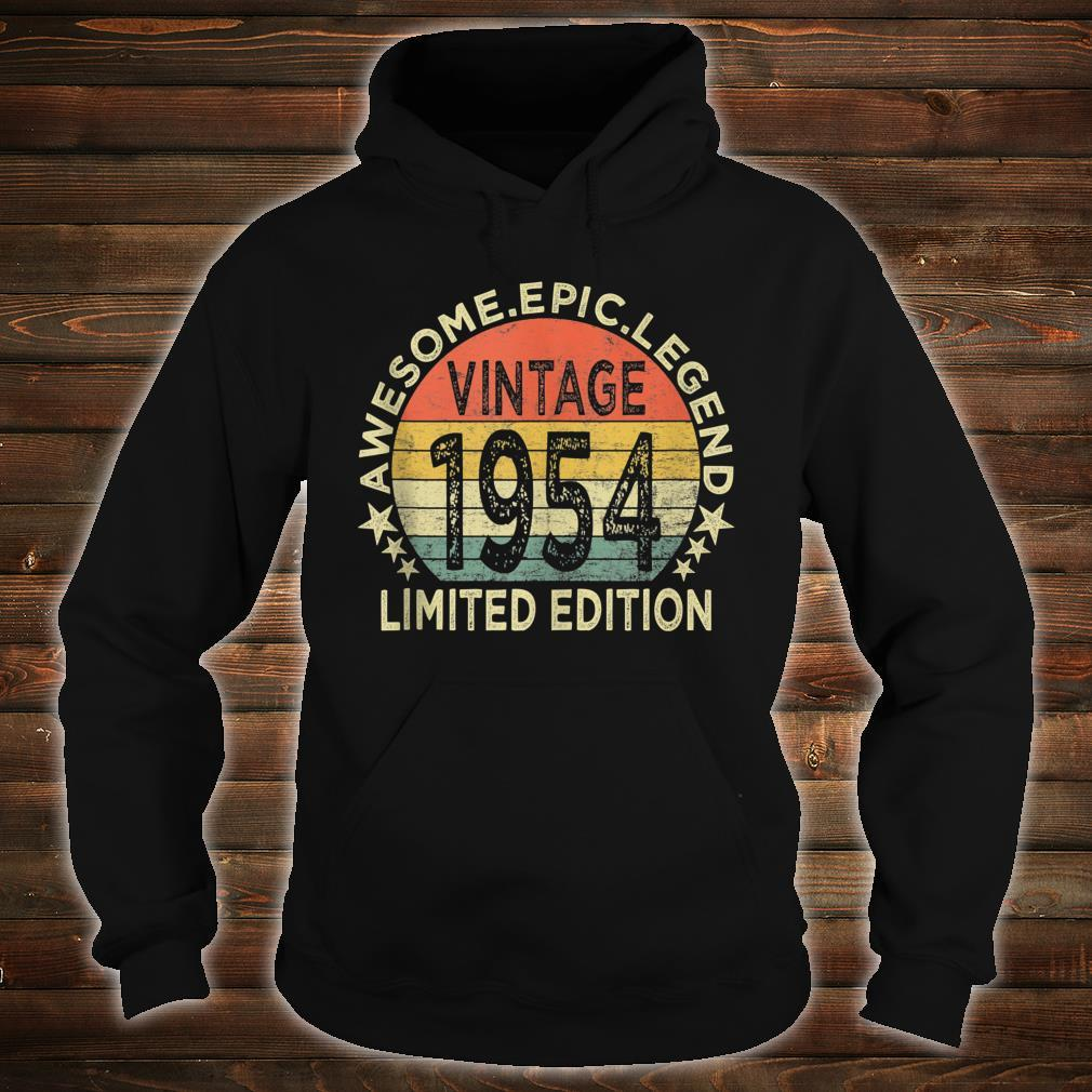 Vintage 1954 Limited Edition 67 Year Old 67th Birthday Shirt hoodie