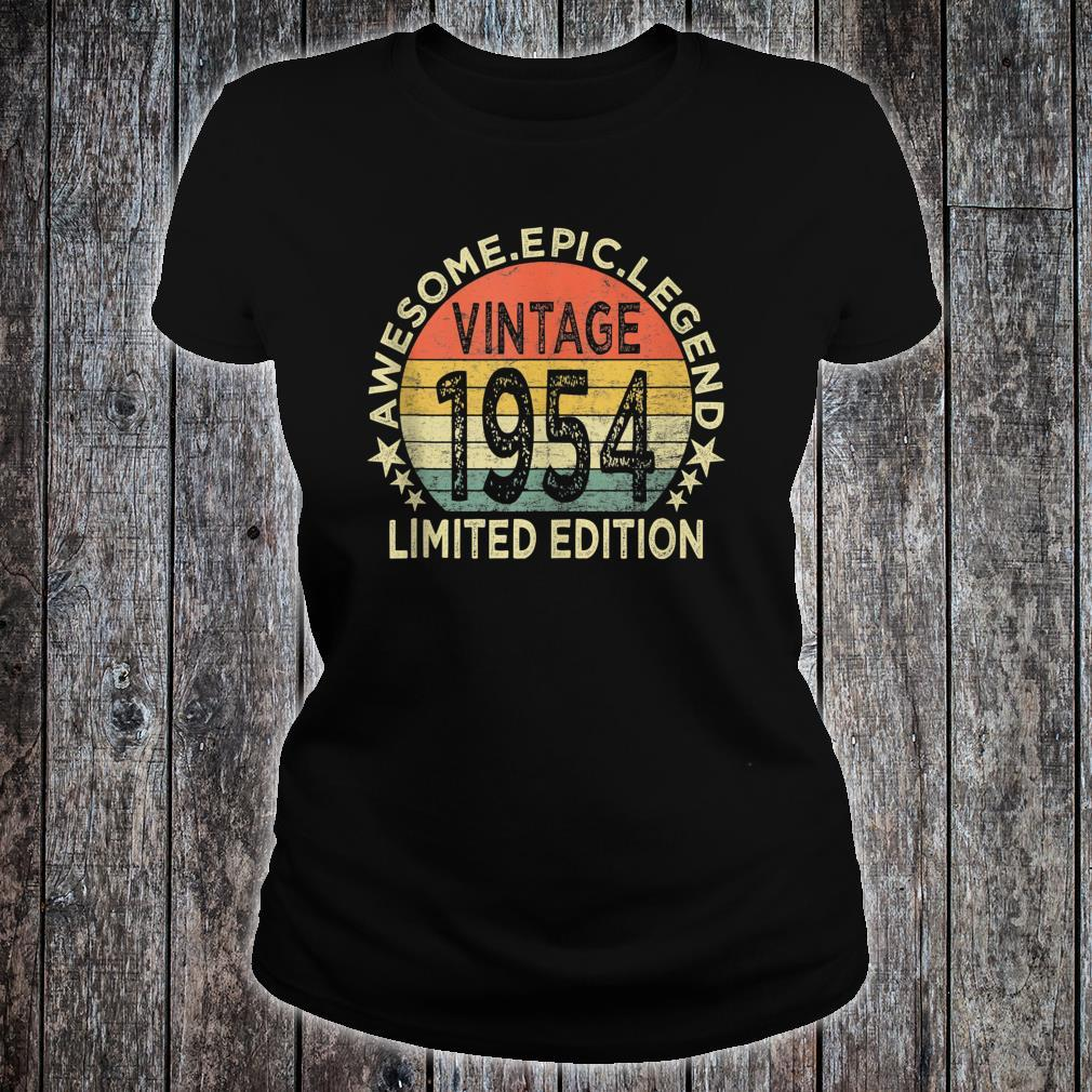 Vintage 1954 Limited Edition 67 Year Old 67th Birthday Shirt ladies tee
