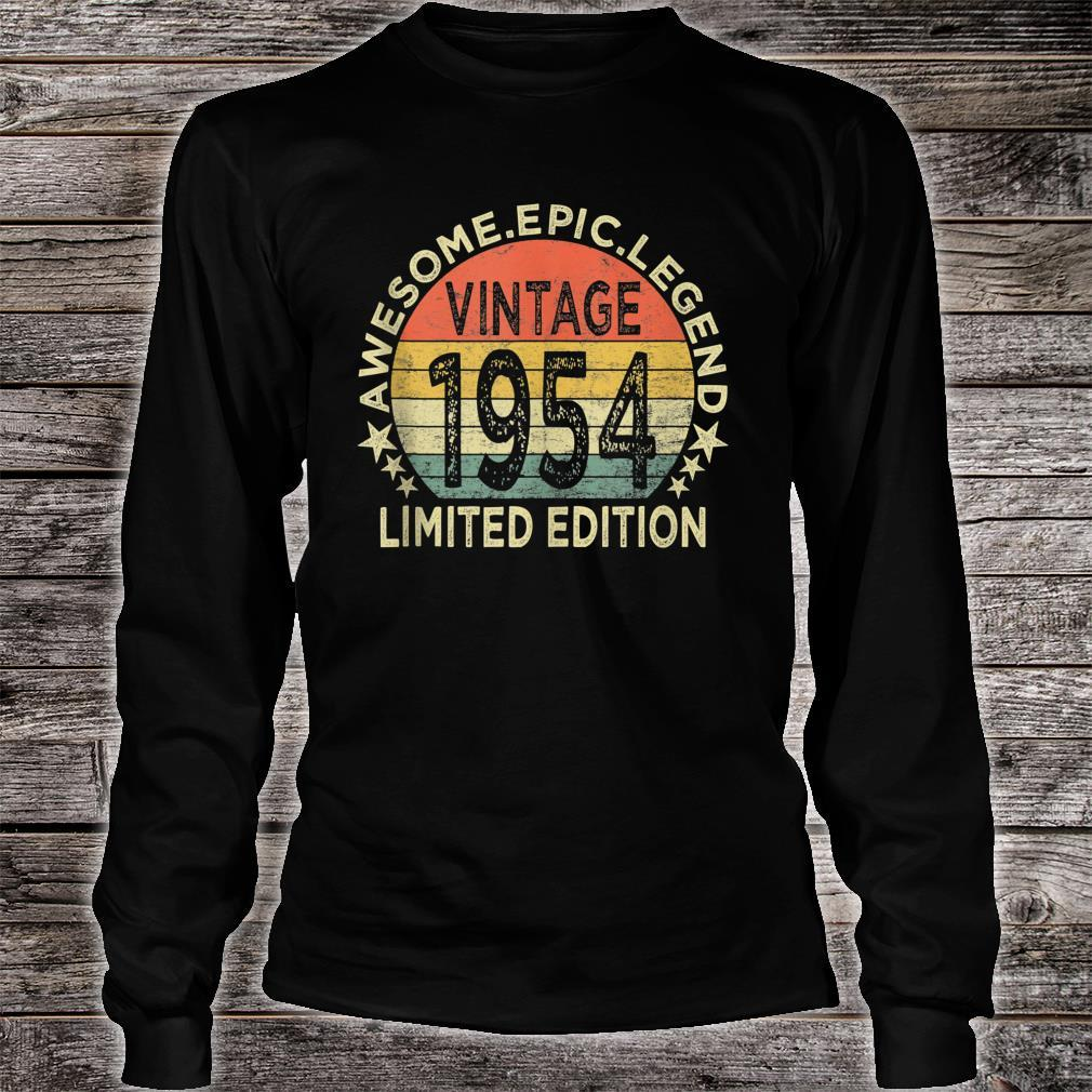 Vintage 1954 Limited Edition 67 Year Old 67th Birthday Shirt long sleeved