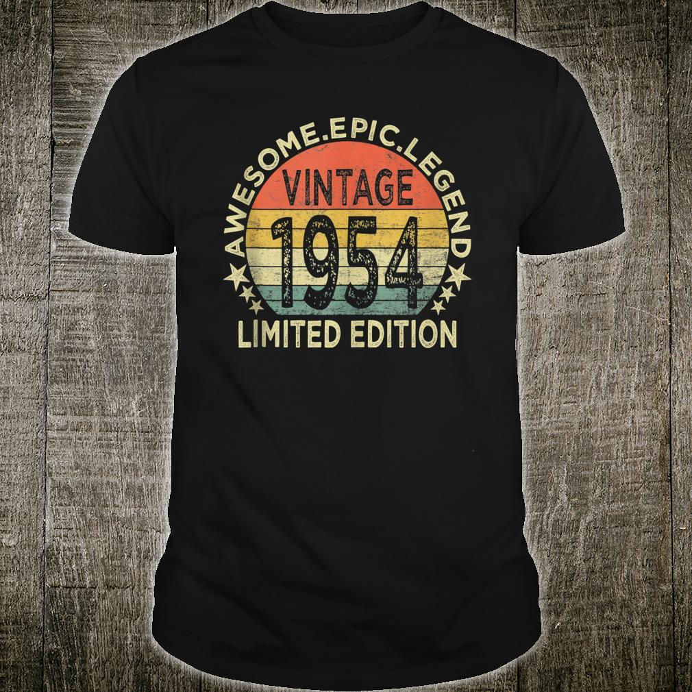 Vintage 1954 Limited Edition 67 Year Old 67th Birthday Shirt