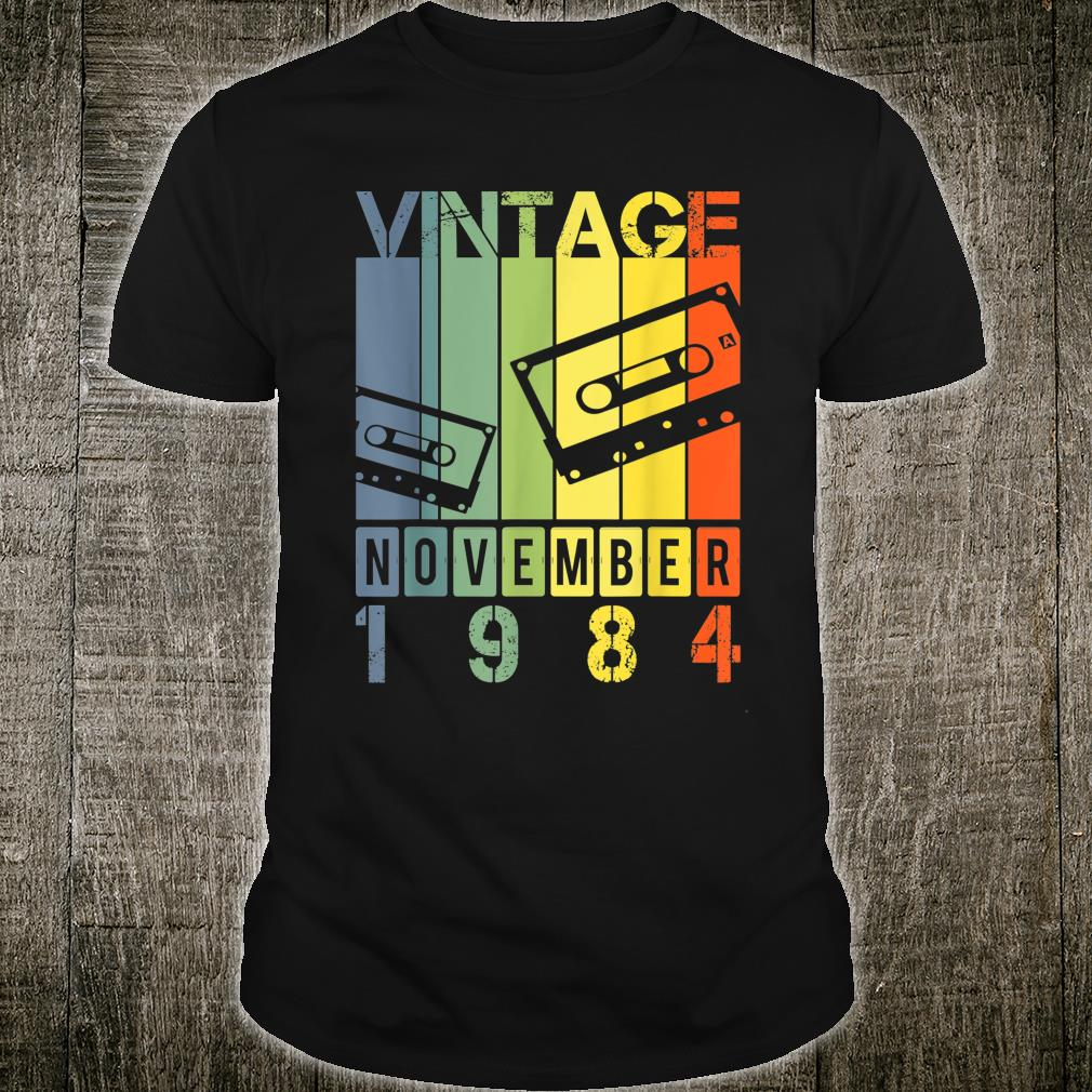 Vintage Retro Mixtape November 1984 Shirt