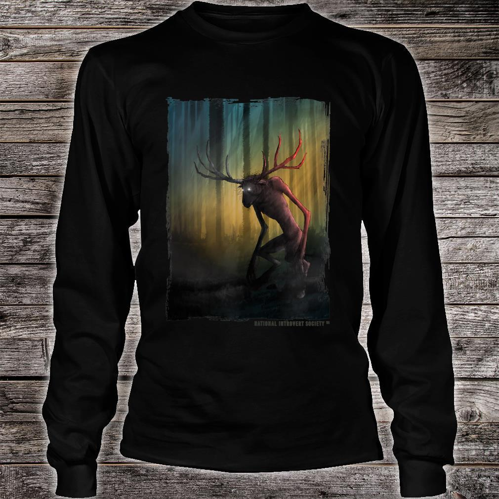 Wendigo Cool Original Cryptid Artwork Shirt long sleeved