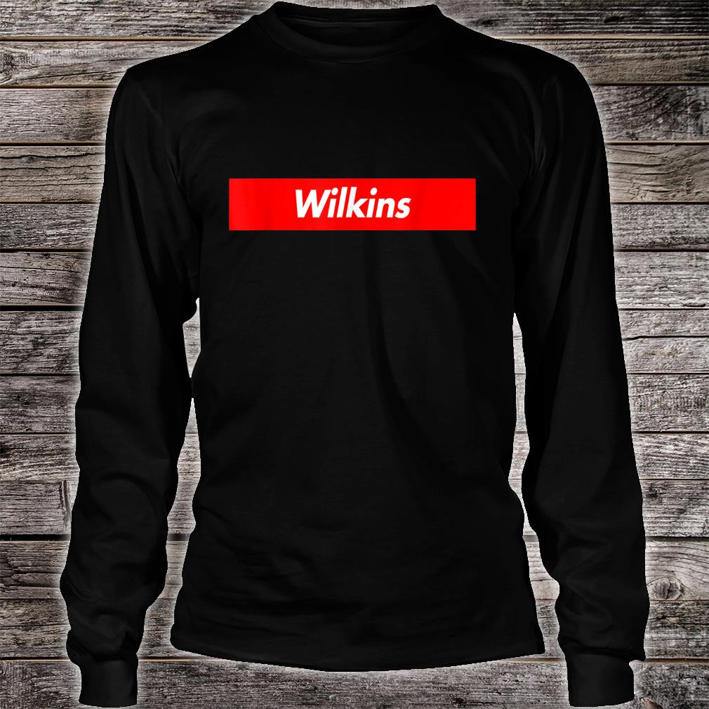 Wilkins Name Red Box Logo Funny Shirt Long sleeved