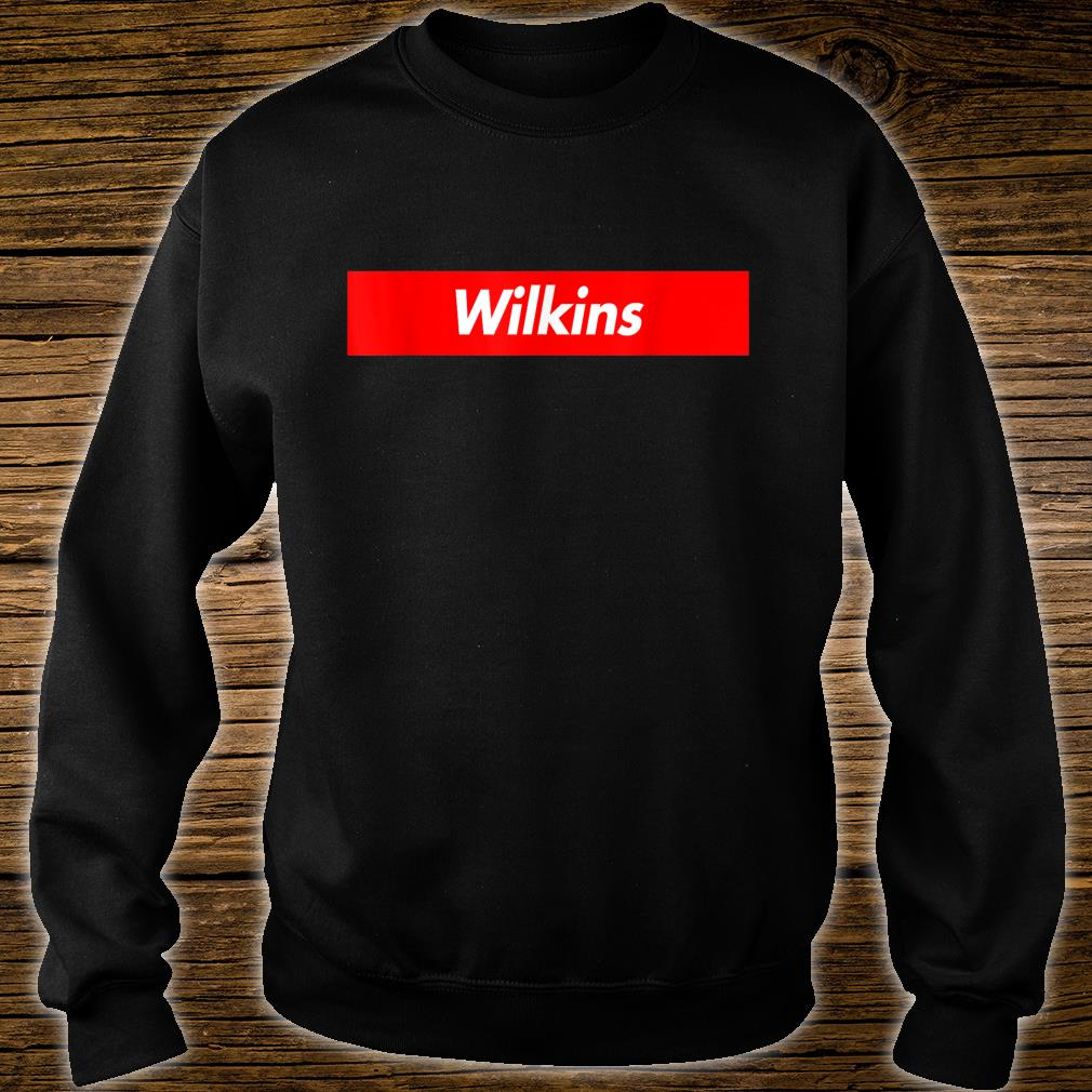 Wilkins Name Red Box Logo Funny Shirt sweater