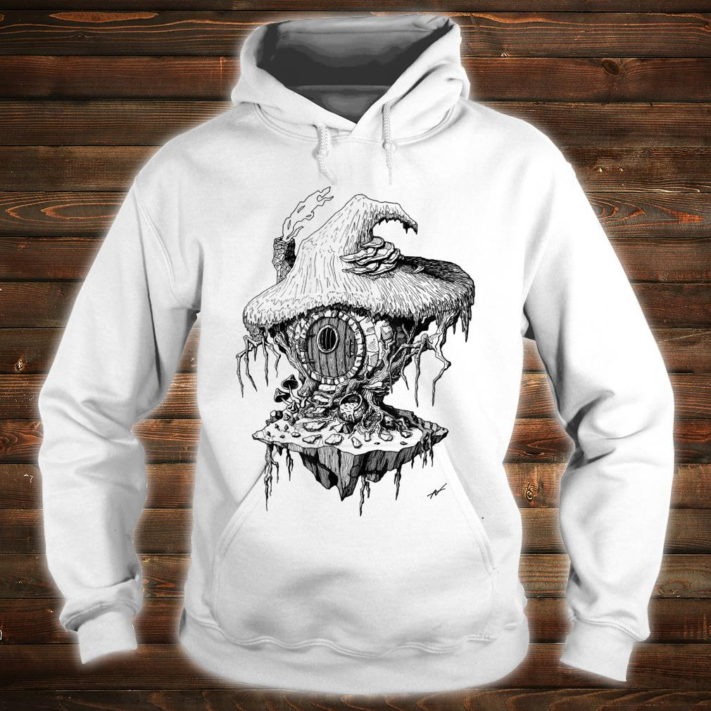 Witch's Hut Hovel Castle Medieval Surreal Series Inkomancer Shirt hoodie