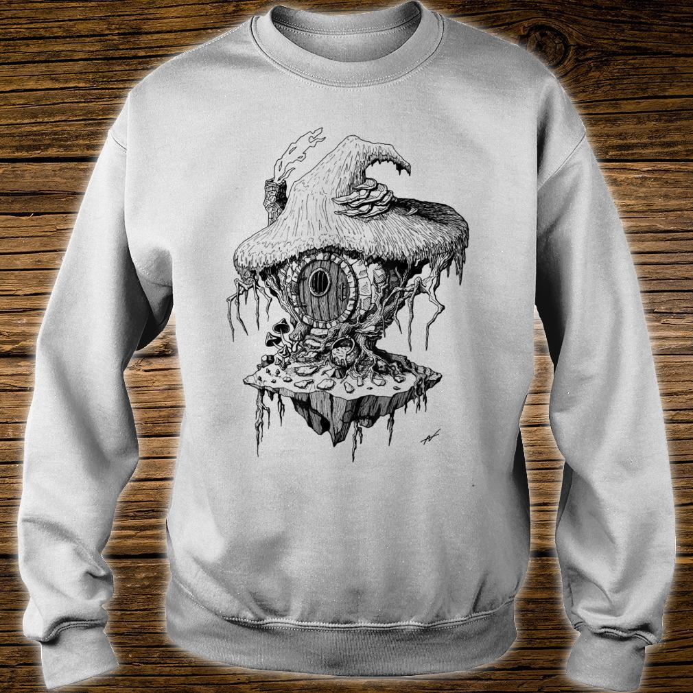 Witch's Hut Hovel Castle Medieval Surreal Series Inkomancer Shirt sweater